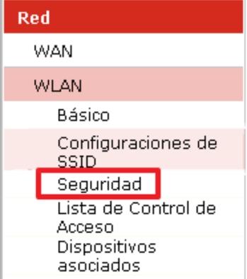 Guardar red claro wifi