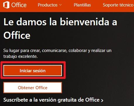 Iniciar sesión en Office 365 desde pc