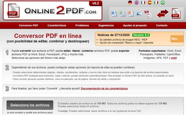 Online2pdf online