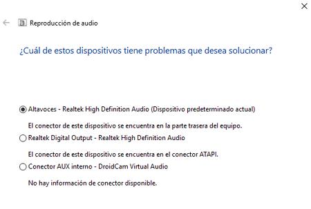 Soluciones para detectar dispositivos de audio en Windows 10