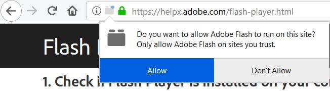 Usar adobe flash player en firefox