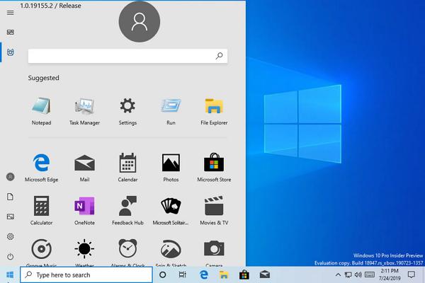 Versión de Windows 10