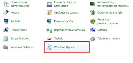 Windows Update en Windows 7