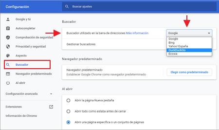 Chrome buscador