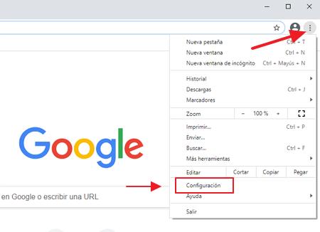 Chrome opciones