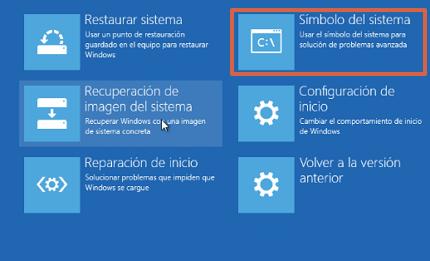 Cómo reparar el inicio de Windows 10 a través de CMD paso 6