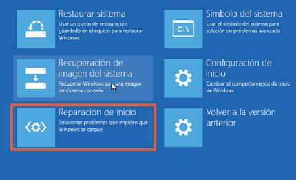 Cómo reparar el inicio de Windows 10 desde WinRE paso 4