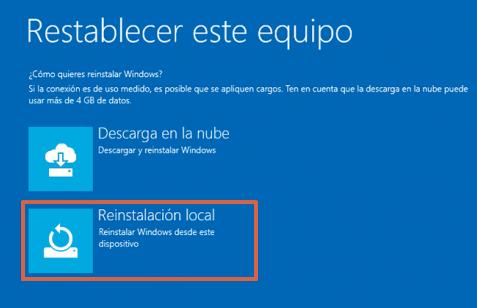 Cómo reparar el inicio de Windows 10 restableciendo el equipo paso 5