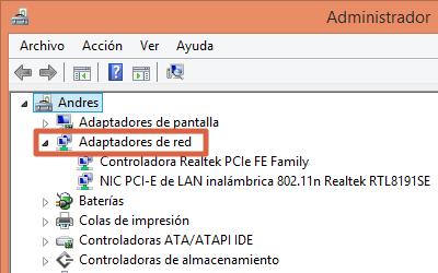Desinstalar controladores para solucionar error No es posible conectarse a esta red en Windows paso 2