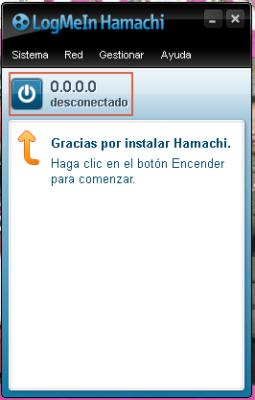 Inicio de Hamachi