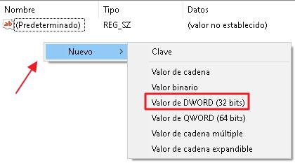 Valor DWORD (32 Bits)