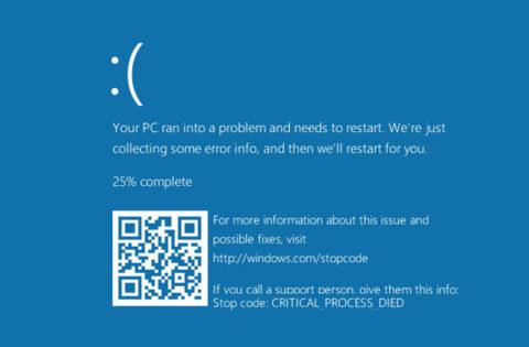 BSOD (Blue Screen Of Deat)