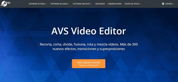 AVS Video Editor como programa para hacer o editar videos