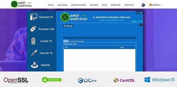 Amir Antivirus para pendrive o memoria USB