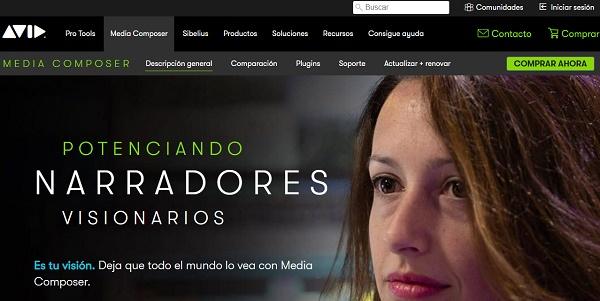 Avid Media Composer como programa para hacer o editar videos