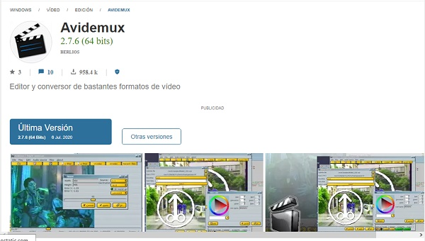 Avidemux como programa para hacer o editar videos