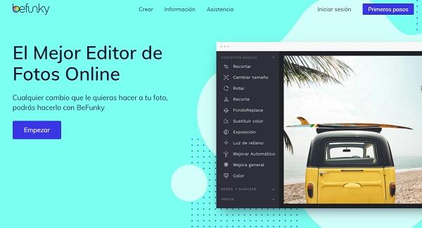 BeFunky como programa para editar fotos