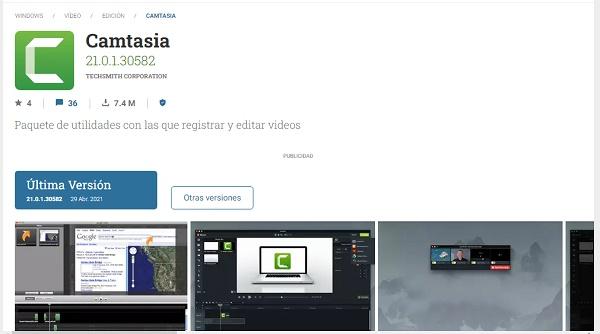Camtasia como programa para hacer o editar videos