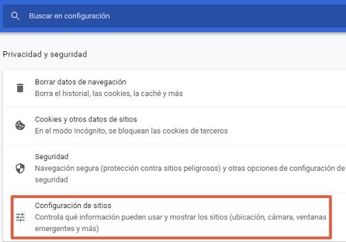 Cómo bloquear una página o sitio web en Google Chrome desde la configuración paso 2