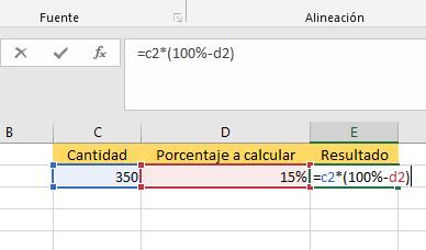 Cómo calcular el porcentaje de descuento en Excel para saber el precio real paso 2.1