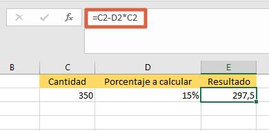 Cómo calcular el porcentaje de descuento en Excel para saber el precio real paso 2