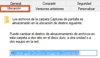 Cómo cambiar la ubicación de las capturas de pantalla en Windows 10 paso 4