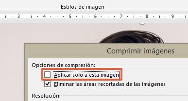 Cómo comprimir un archivo de Word o reducir su tamaño comprimiendo las imágenes en el documento paso 4