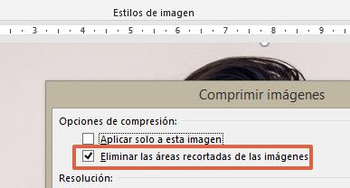 Cómo comprimir un archivo de Word o reducir su tamaño comprimiendo las imágenes en el documento paso 5