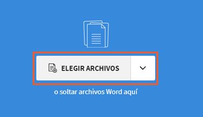 Cómo convertir documentos de Word a un archivo JPEG usando Smallpdf paso 2