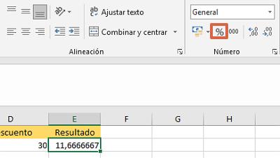 Cómo convertir números decimales a porcentaje en Excel