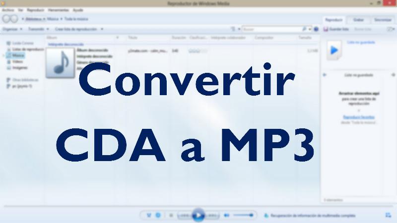 Cómo convertir un archivo CDA a MP3