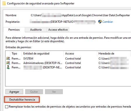 Cómo desactivar Software Reporter Tool de Chrome paso 6