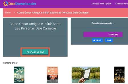 Cómo descargar libros y documentos de Scribd gratis utilizando DocDownloader paso 3