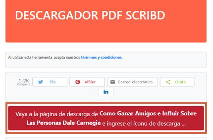 Cómo descargar libros y documentos de Scribd gratis utilizando Scribd PDF Downloader paso 2