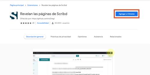 Cómo descargar libros y documentos de Scribd gratis utilizando la extensión de Google Chrome paso 2