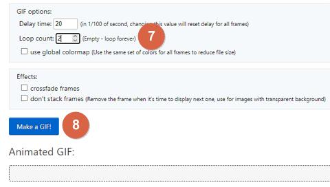 Cómo elegir la cantidad de repeticiones del GIF paso 8