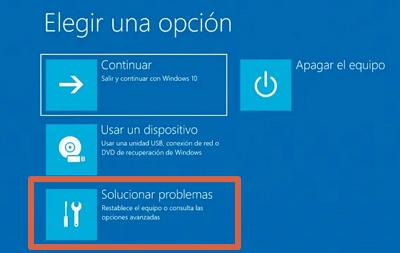 Cómo entrar a la BIOS de un ordenador con Windows 10 desde el menú de configuración avanzada paso 6