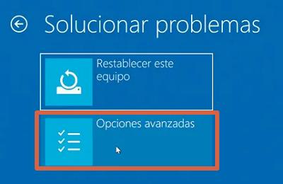 Cómo entrar a la BIOS de un ordenador con Windows 10 desde el menú de configuración avanzada paso 7