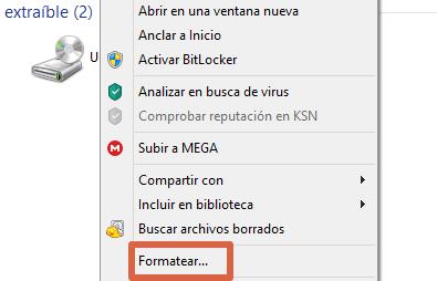 Cómo formatear un disco duro externo en Windows desde el explorador de archivos paso 2