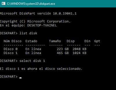 Cómo formatear un disco duro externo en Windows usando el Símbolo del sistema paso 5