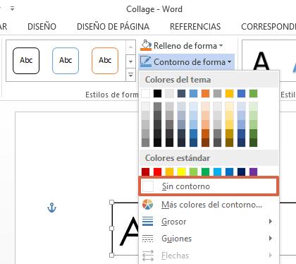 Cómo hacer un collage de palabras en Microsoft Word paso 6