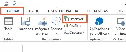 Cómo hacer un collage en Microsoft Word utilizando SmartArt paso 1