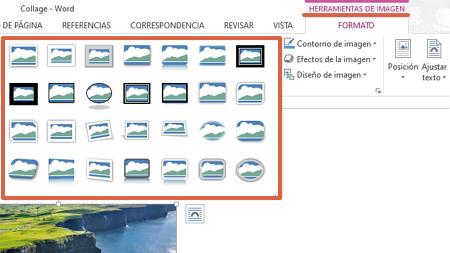 Cómo hacer un collage en Microsoft Word utilizando las herramientas de imagen paso 6