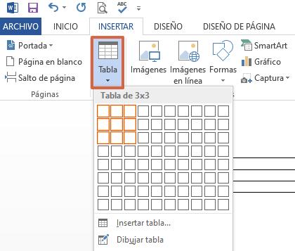Cómo hacer un collage en Microsoft Word utilizando las tablas paso 2