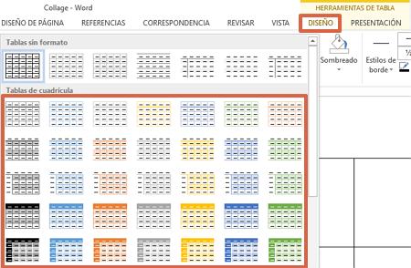 Cómo hacer un collage en Microsoft Word utilizando las tablas paso 4