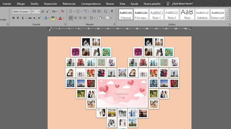 Cómo hacer un collage en Microsoft Word