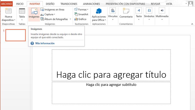 Cómo poner o agregar un GIF en una diapositiva de PowerPoint