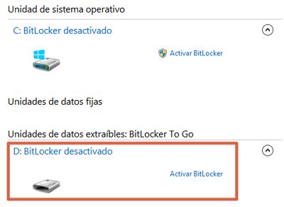 Cómo ponerle contraseña a una memoria USB en Windows paso 3