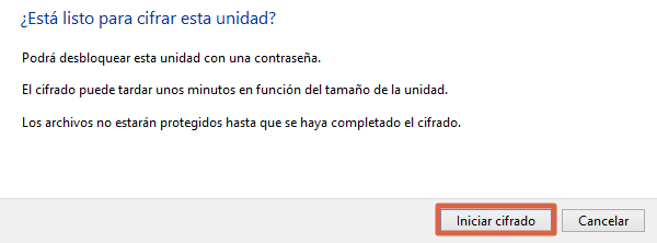 Cómo ponerle contraseña a una memoria USB en Windows paso 7