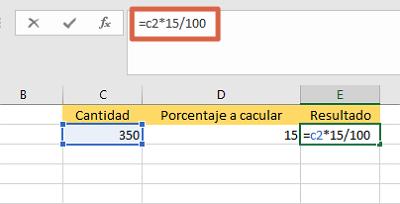 Cómo sacar o calcular el porcentaje de una cantidad específica en Excel multiplicando el valor por el porcentaje directamente paso 2